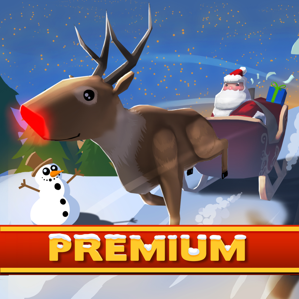 A Santa Claus: Christmas Gifts Premium - 3D Sleigh Driving Game with Cartoon Graphics for Everyone